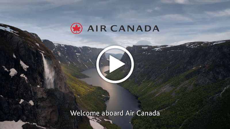 Air Canada's New Onboard Safety Video , Ode to Canada