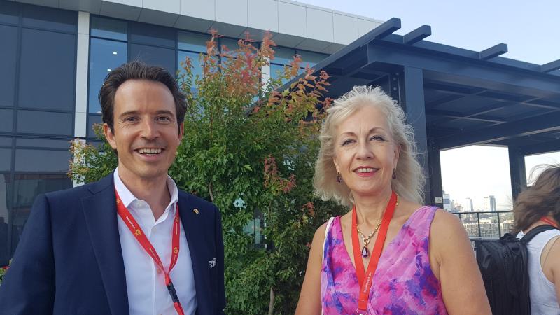 Prinz with Line Leon-Pernet, Consul General of Switzerland