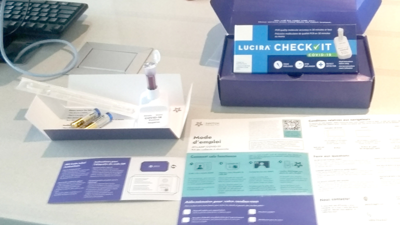 Do-it-yourself Covid test kit less than 72 hours before returning to Canada, offered by Switch Health