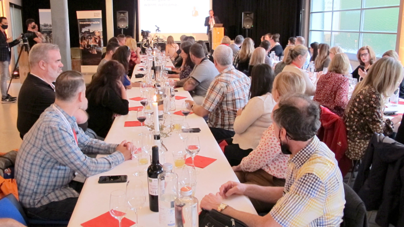 Basel Tourism meets participants for a meal at the city's Neue Alte Markthalle