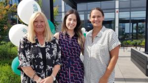 Members of team VoX: Susan Webb, Samantha Carriera and Kerry Sharpe