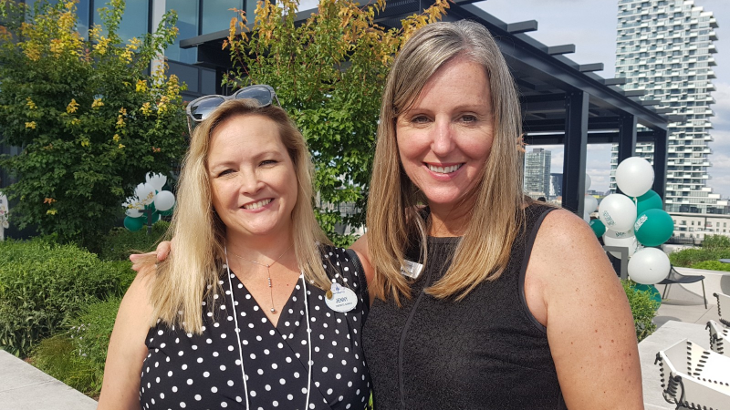 Travel colleagues Disney's Jenny Rivard and Experience Kissimmee's Denise Graham