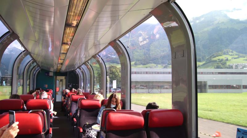 Goodbye Lucerne... Next stop: Engelberg! Luzern-Engelberg Express