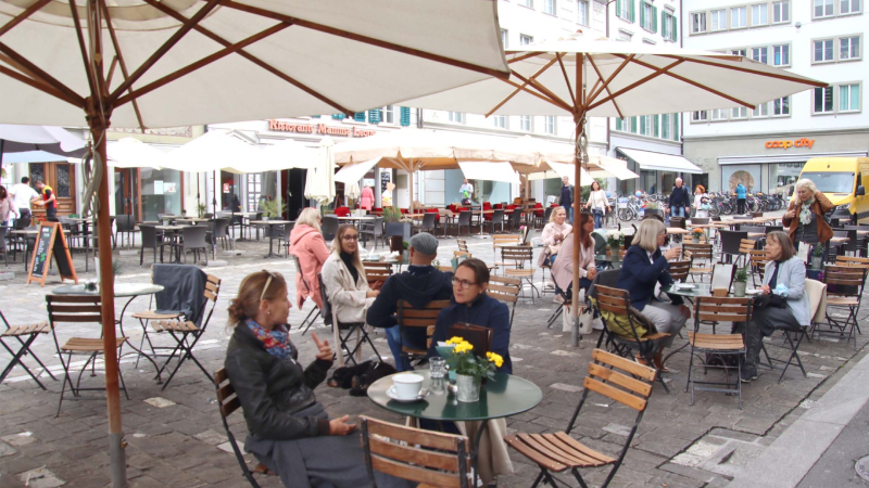 Swiss art of living, on the terrace