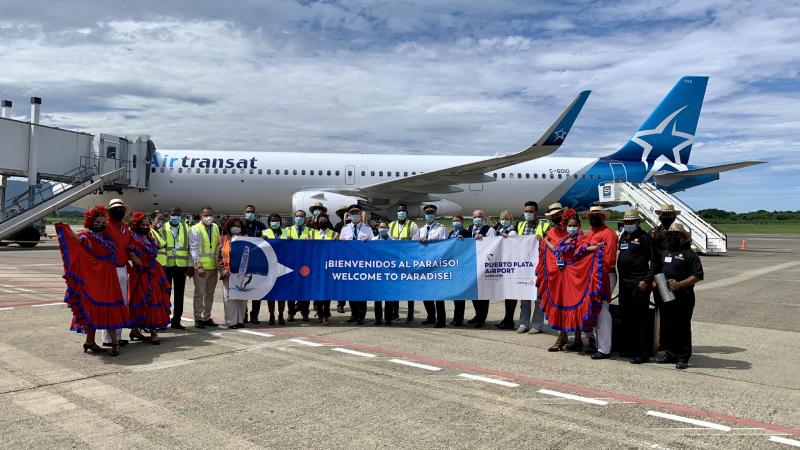 Air Transat lands in POP after a months-long suspension.